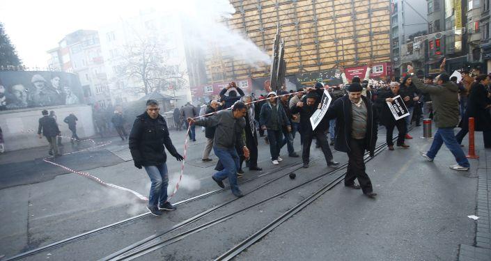 مظاهرة احتجاجية في اسطنبول