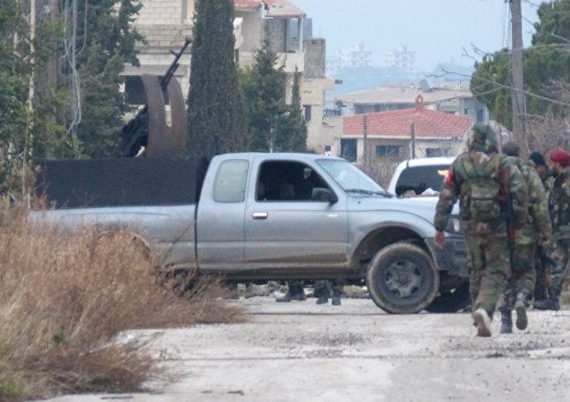 الجيش السوري يتخطى سلمى