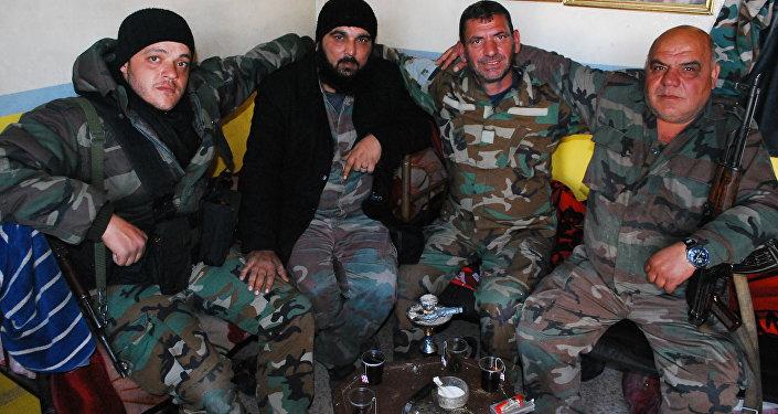 مقاتلون سوريون في جوبر