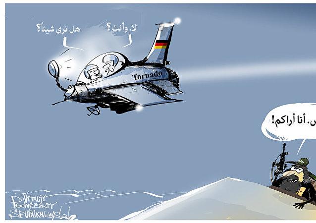 المقاتلة الألمانية  التي تمنع من قصف داعش ليلا