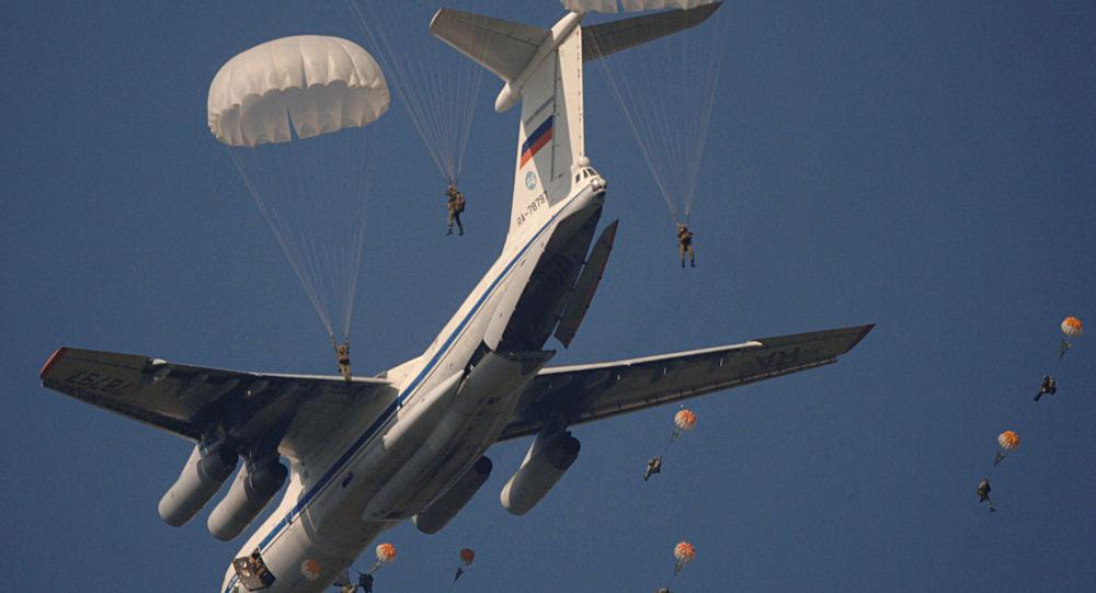 تدريبات قوات المظلات الروسية