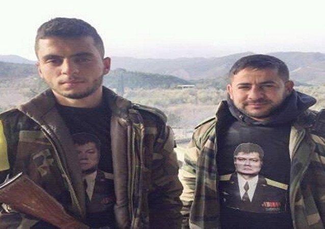 الجيش السوري يخلد ذكرى الطيار الروسي