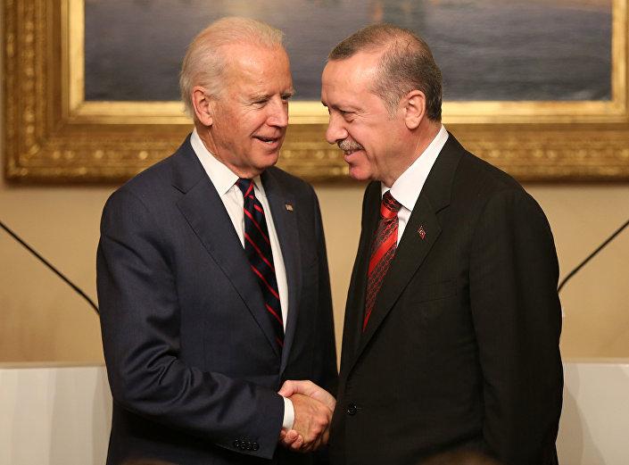 جو بايدن ورجب طيب اردوغان