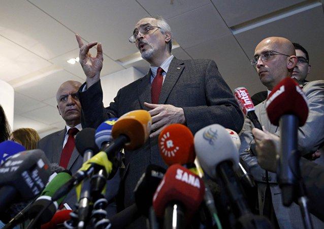 محادثات جنيف غير المباشرة بين وفدي الحكومة والمعارضة السورية