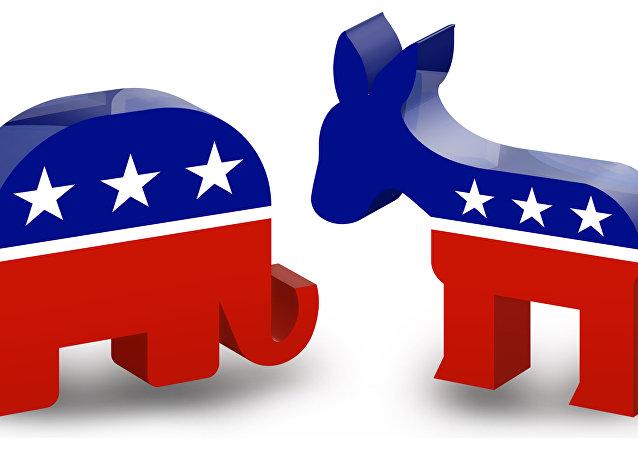 الحزب الديموقراطي والجمهوري في الولايات المتحدة