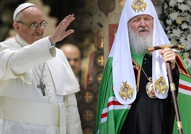 البابا فرانسيس وبطريرك موسكو كيريل