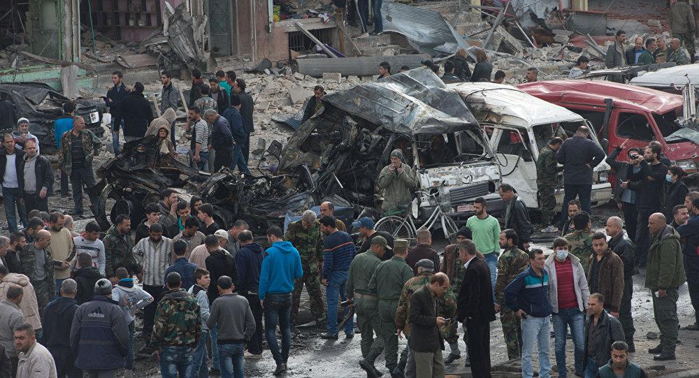 تفجير إرهابي في حمص