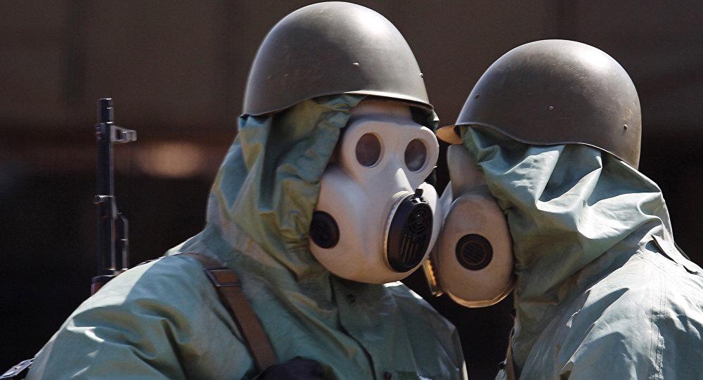 التدريبات ضد الأسلحة الإشعاعية والبيولوجية والكيماوية