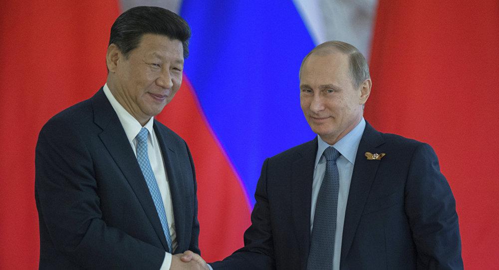 لقاء الرئيسين الروسي فلاديمير بوتين والصيني شي جين بينغ