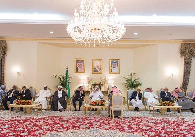 الملك سلمان يستقبل الزعماء المشاركين في رعد الشمال