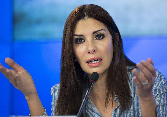 رندا قسيس، رئيسة حركة المجتمع التعددي السورية المعارضة.