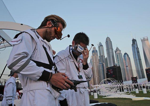 سباق الطائرات بدون طيار في دبي
