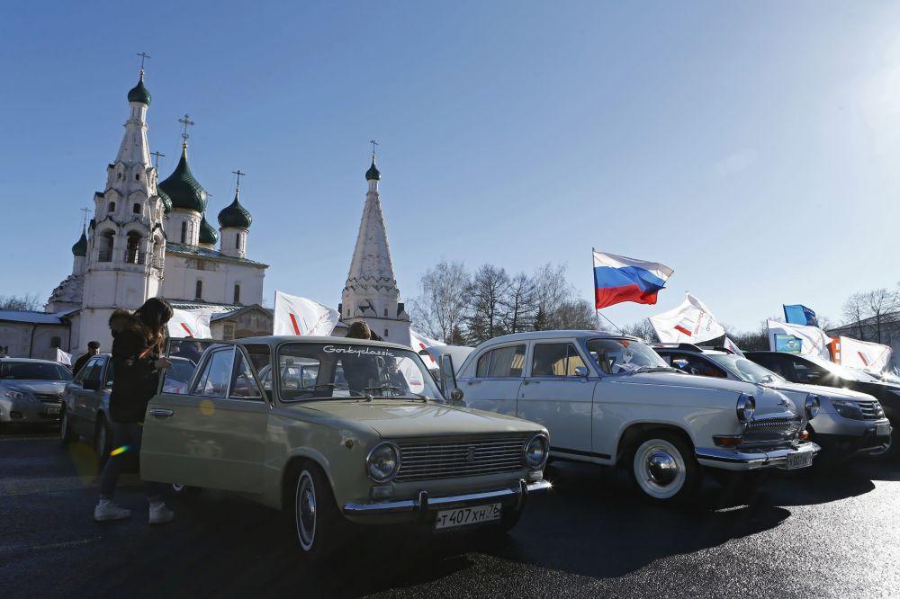 الاحتفال بإعادة توحيد شبه جزيرة القرم مع روسيا  في ياروسلاف
