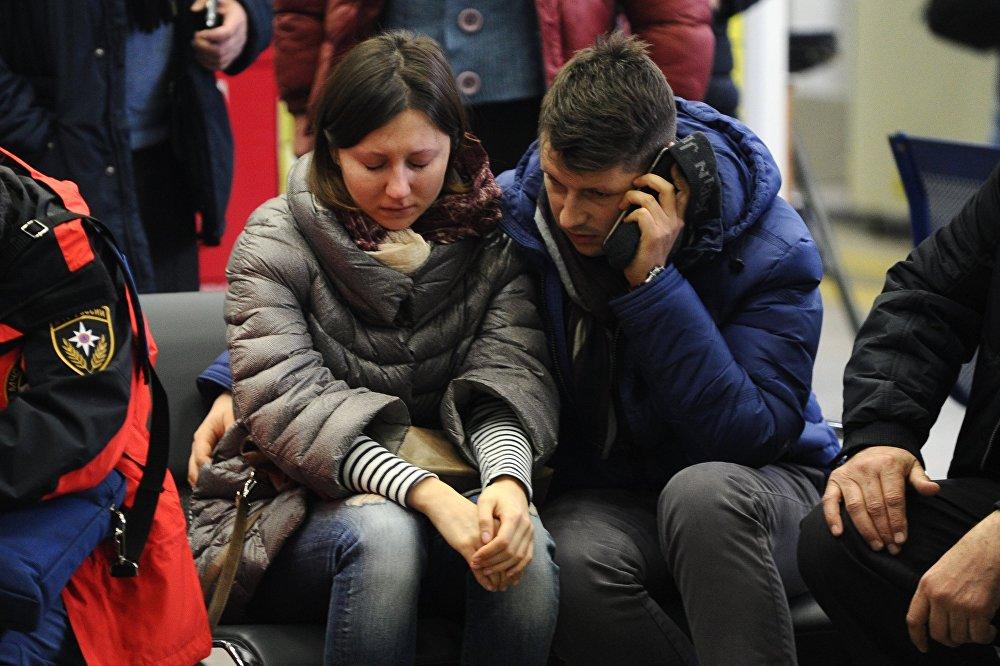 أقارب ضحاياالطائرة المنكوبة