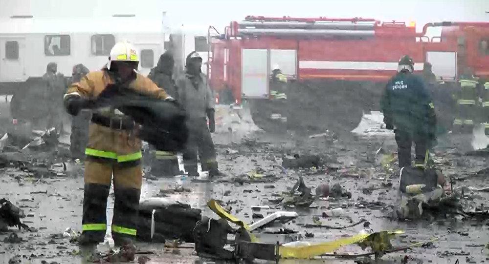 سقوط طائرة فلادي دبي في روستوف على الدون