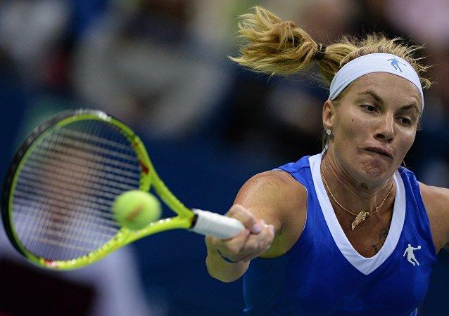 لاعبة التنس الروسية سفيتلانا كوزنيتسوفا