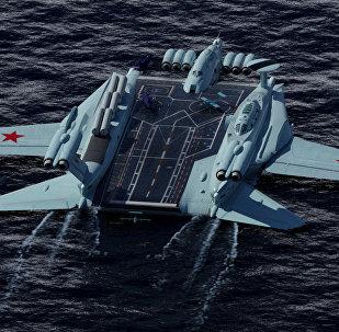 إيكرانوبلان حاملة طائرات روسية تطير في الماء