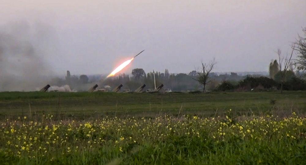 قصف صاروخي أذربيجاني