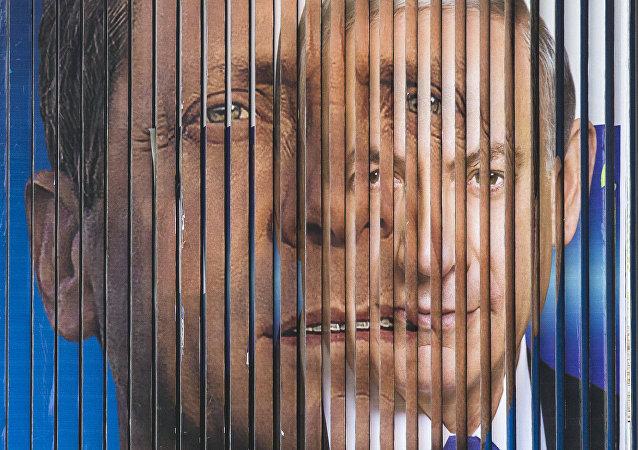زعيم المعسكر الصهيوني وحزب العمل، يتسحاق هيرستوغ ورئيس الوزراء الإسرائيلي (من حزب الليكود) بنيامين نتنياهو