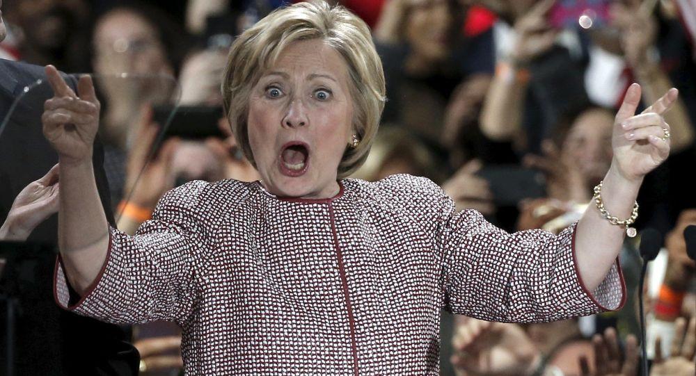 المرشحة للانتخابات الرئاسية هيلاري كلينتون في نيويورك، 19 أبريل/ نيسان 2016.