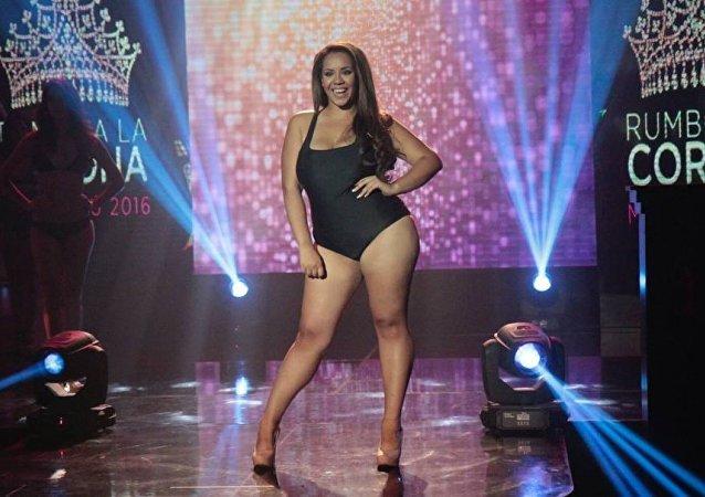فتاة وزنها 95 كيلوغرام تفوز بملكة جمال بيرو 2016