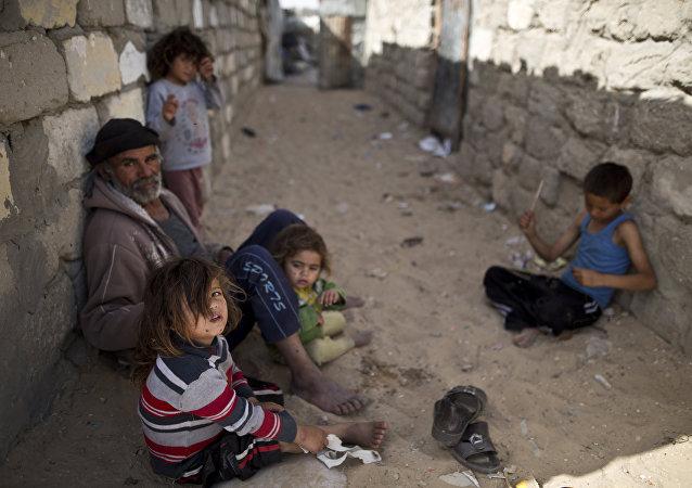 أطفال في قطاع غزة