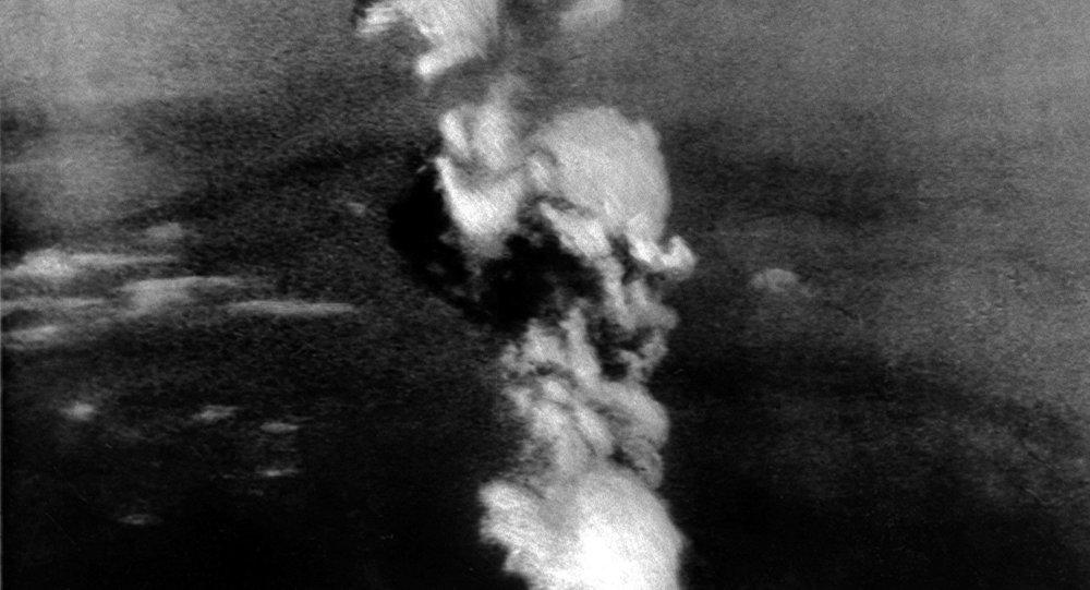 تفجير القنبلة الذرية فوق هيروشيما