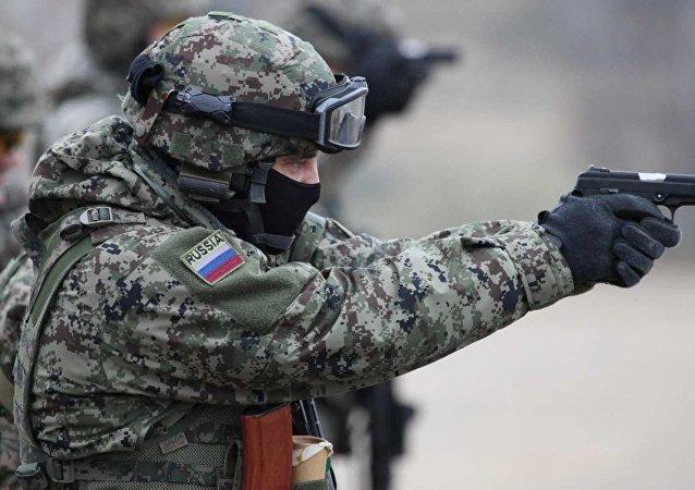 الحرس الوطني الروسي يظهر علي الأنترنت