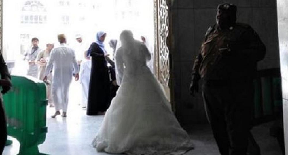عروس تم منعها من دخول الحرم