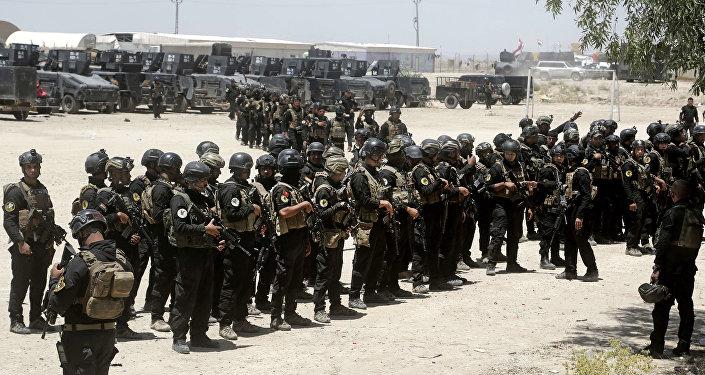 القوات العراقية قبل اقتحام الفلوجة