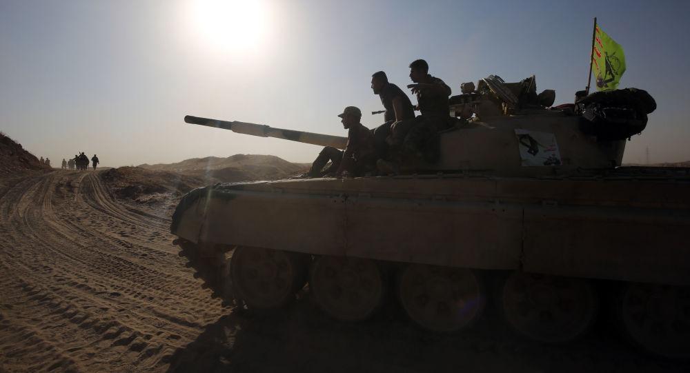 القوات العراقية فى طريقها للفلوجة