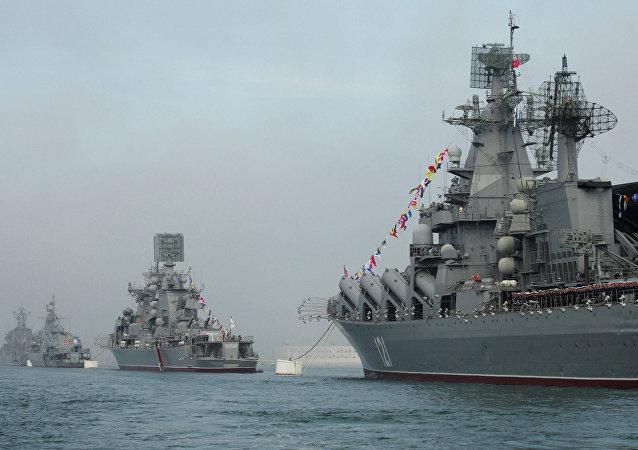 سفن حربية روسية في البحر الأسود