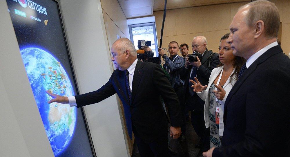 بوتين يزور مقر وكالة روسيا سيغودنيا