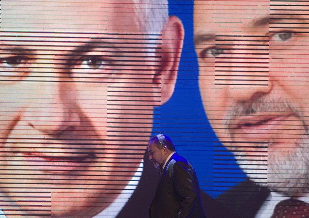 رئيس الوزراء الإسرائيلي بنيامين نتنياهو ووزير الدفاع الإسرائيلي أقغدور ليبرمان