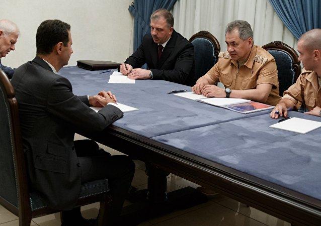 لقاء الأسد وشويغو