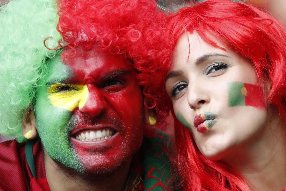 مشجعان من البرتغال في بطولة يورو-2016 لكرة القدم في فرنسا