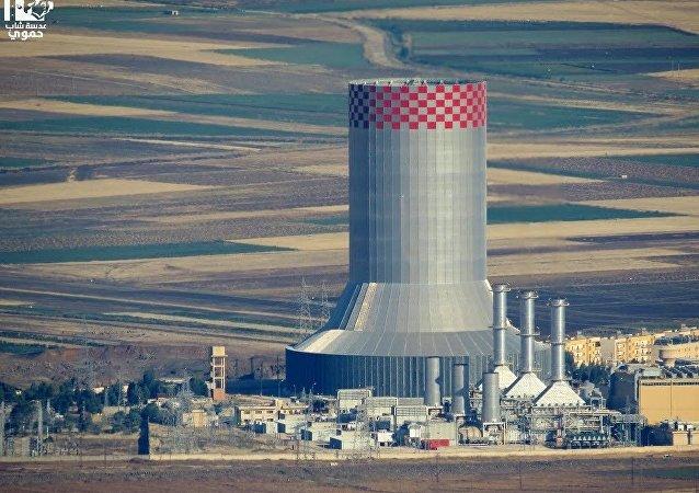 محطة زيزون الكهربائية في سوريا