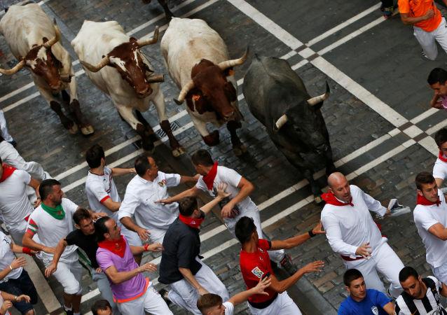 مهرجان سان فيرمان في اسبانيا، 9 يوليو/ تموز 2016