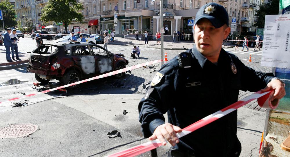 موقع قتل الصحفي بافل شيريميت في كييف