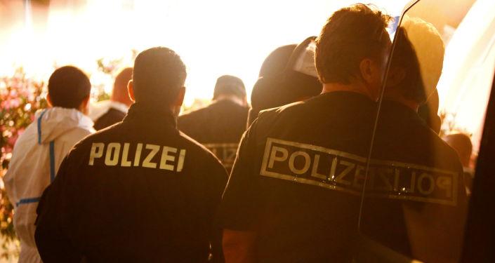 الشرطة الألمانية في مكان التفجير في انسباخ