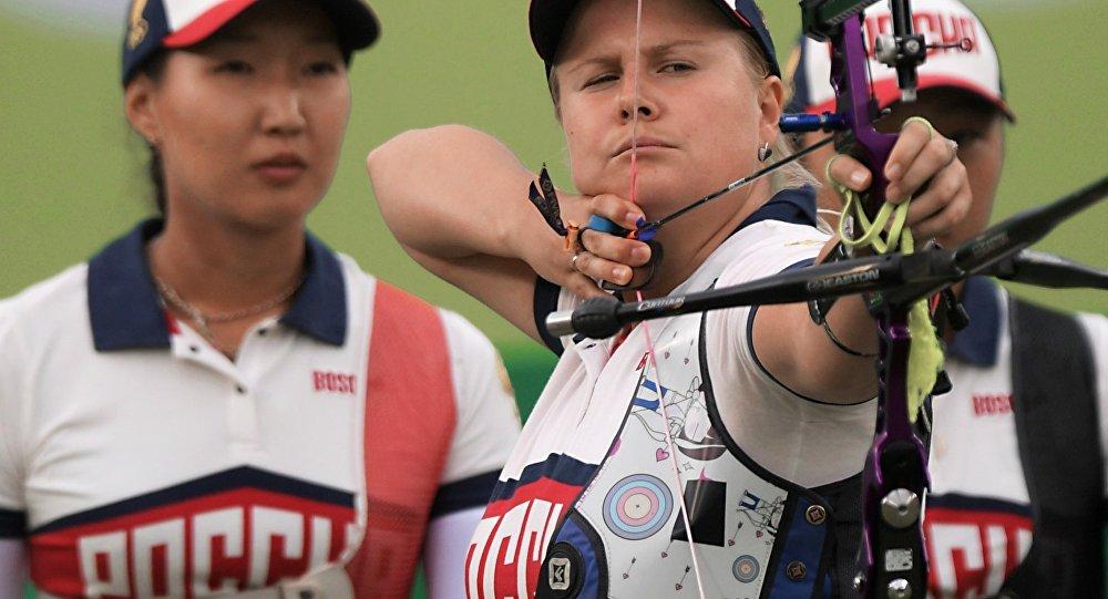 أولمبياد ريو الفريق النسائي الروسي في مسارقة القوس والسهم