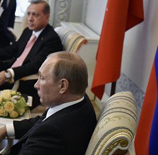 لقاء الرئيس الروسي فلاديمير بوتين والرئيس التركي رجب طيب أردوغان