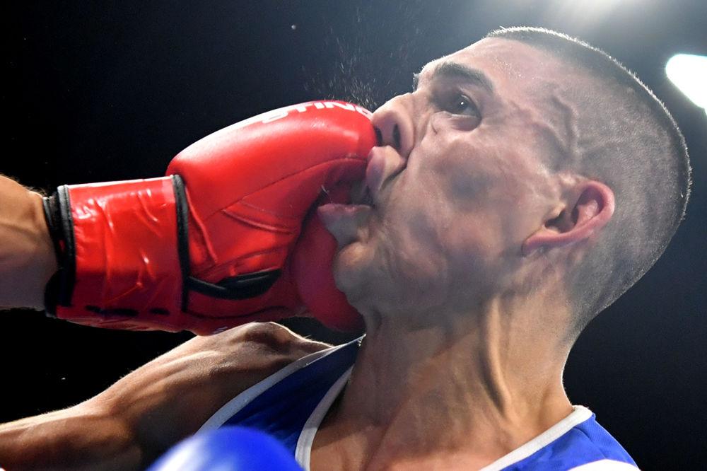 أولمبياد ريو 2016 -رياضي من هندوراس خلال مباراة الملاكمة، 7 أغسطس/ آب 2016