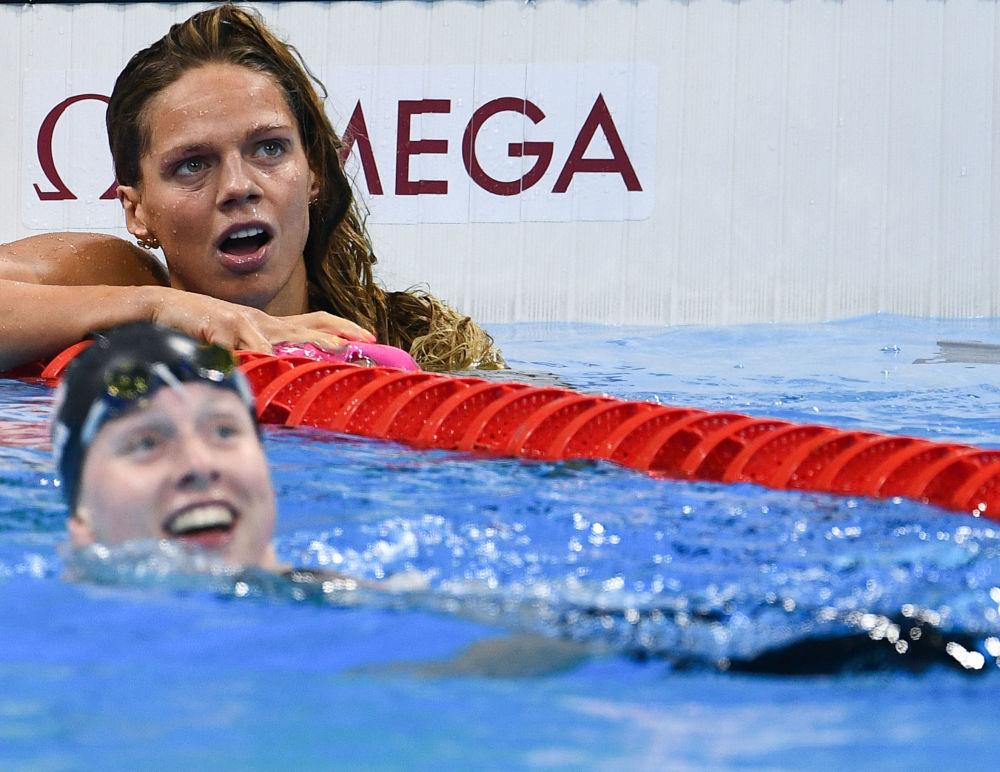 أولمبياد ريو 2016 - الرياضية الروسية خلال سباق السباحة (100 متر) للنساء، أغسطس/ آب 2016