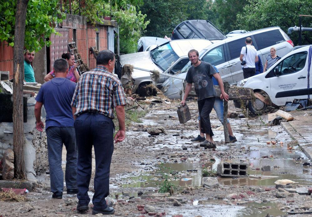 شوارع مقدونيا بعد الفياضانات، 7 أغسطس/ آب 2016