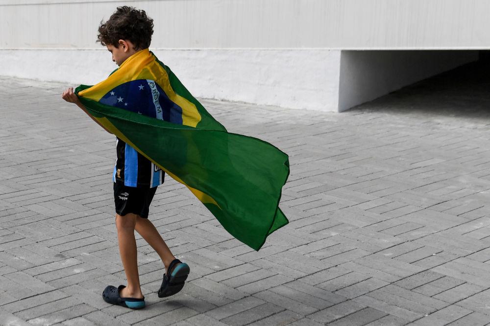 أولمبياد ريو 2016 - مشجع برازيلي صغير، أغسطس/ آب 2016
