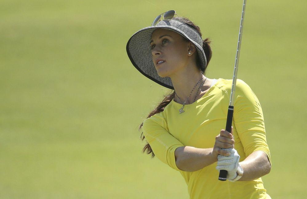 لاعبة الغولف الروسية ماريا فيرتشينوفا خلال أولمبياد 2016 في ريو دي جانيرو