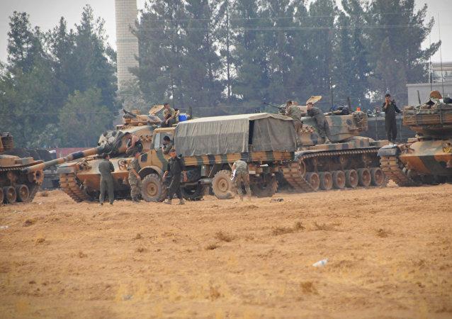 الجيش التركي في جرابلس السورية