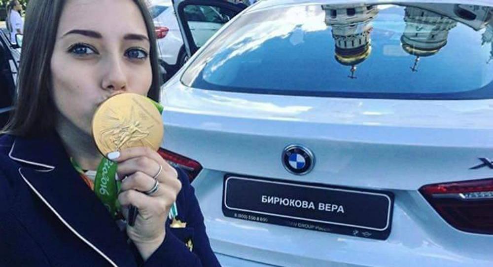 فيرا بيريوكوفا بطلة روسيا في الجمباز