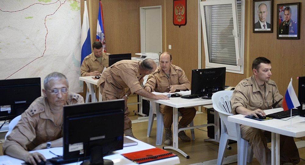 المركز الروسي لتنسيق التهدئة في قاعدة حميميم الجوية قرب اللاذقية